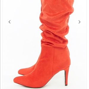 Good Choice Slouchy red  Stiletto Boots 7.5